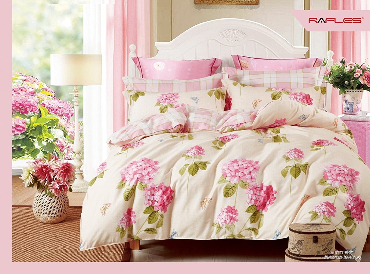 Pink and Rose Cream Double Duvet
