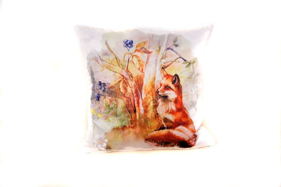 18 x 18 Inch Fox Cushion Cover