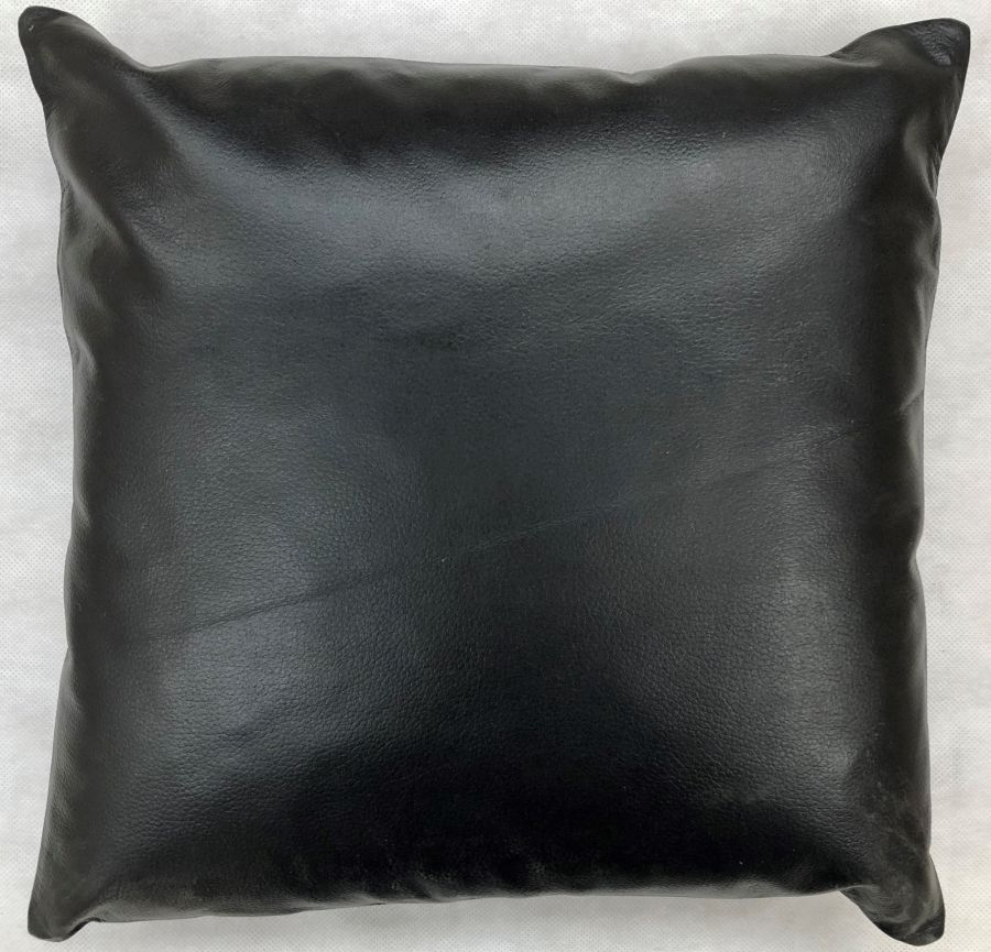 Real Leather Cushion Pad in Black 14x14