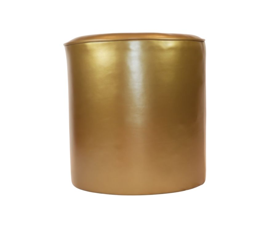 Gold leather 20 inch (55cm) Drum Footstool