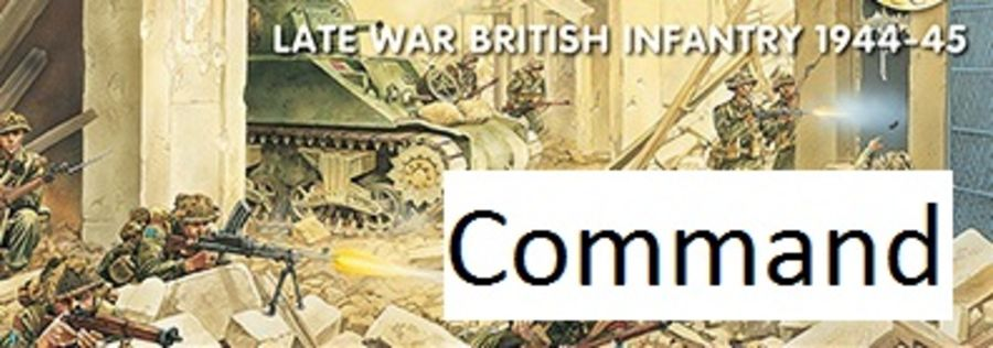 Late War British Infantry Command 1944-45