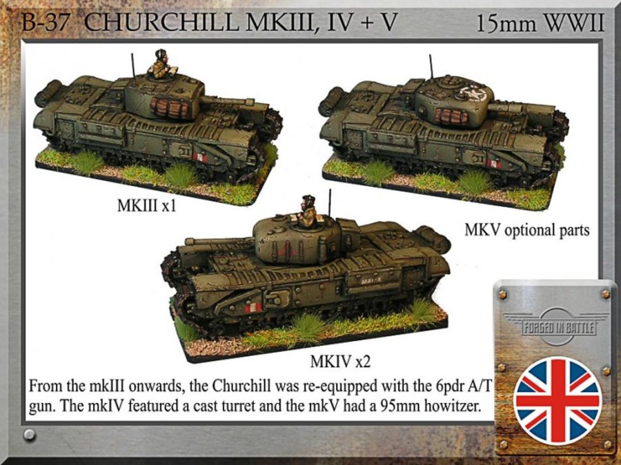 Churchill mkIII, IV+V