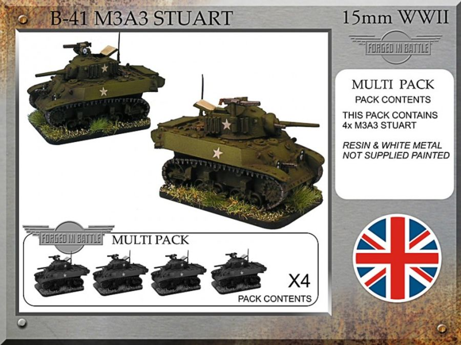 M3A3 Stuart x 4