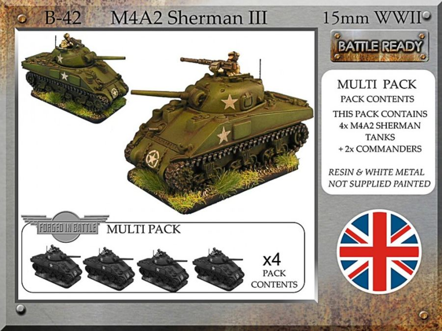 British Sherman III x 4