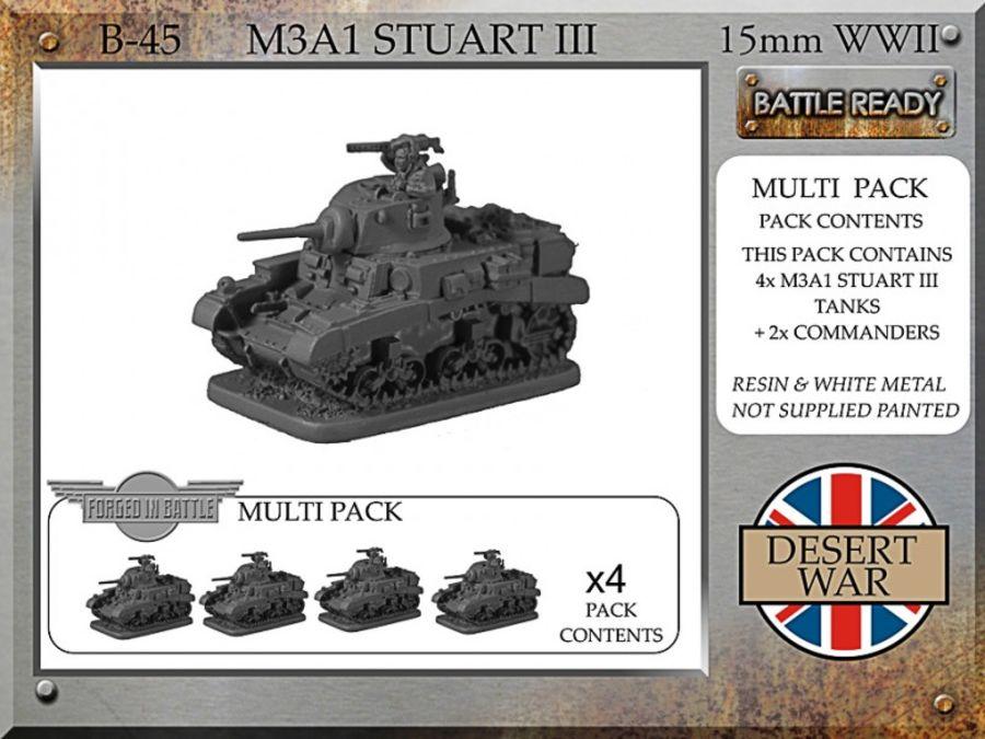 M3A1 Stuart III, desert
