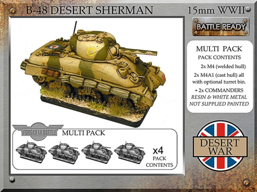 British desert Sherman x4