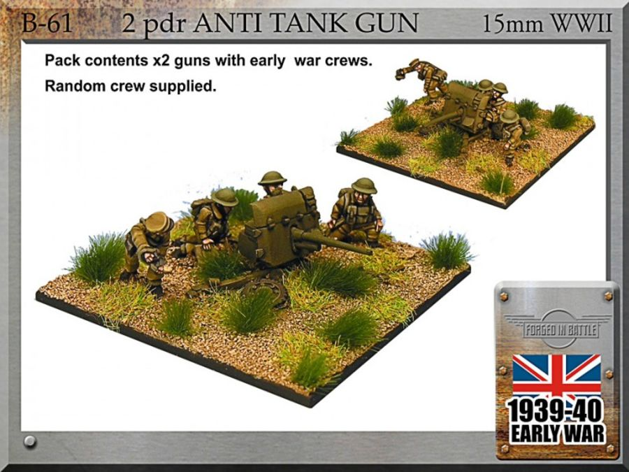 2pdr anti-tank guns