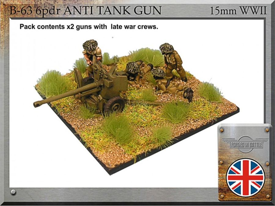 6pdr anti-tank guns