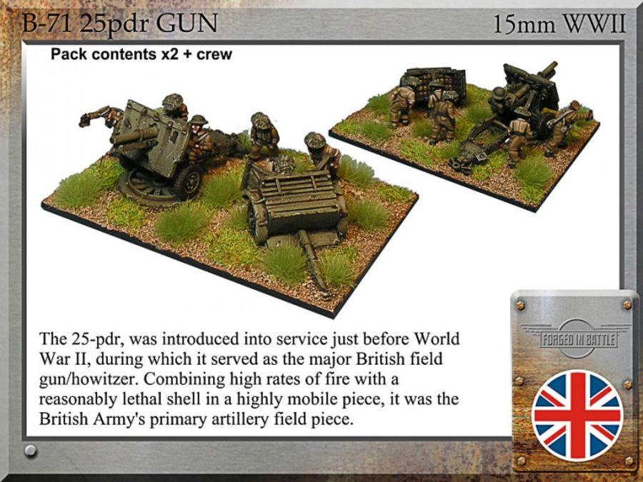 25pdr field gun, limber, late war crew
