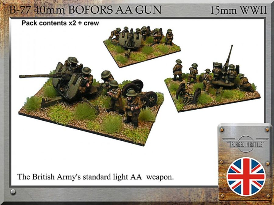 40mm Bofors AA + early war crew