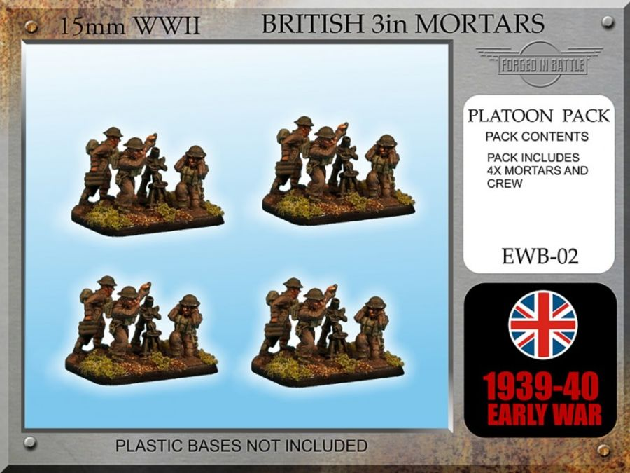 Early War British 3in Mortars x 4