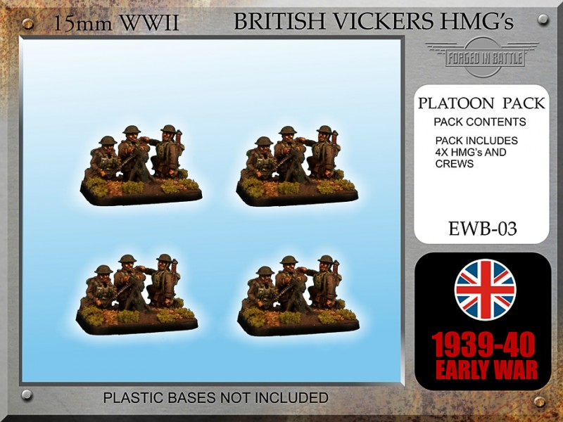 Early War British Vickers HMG Teams x 4
