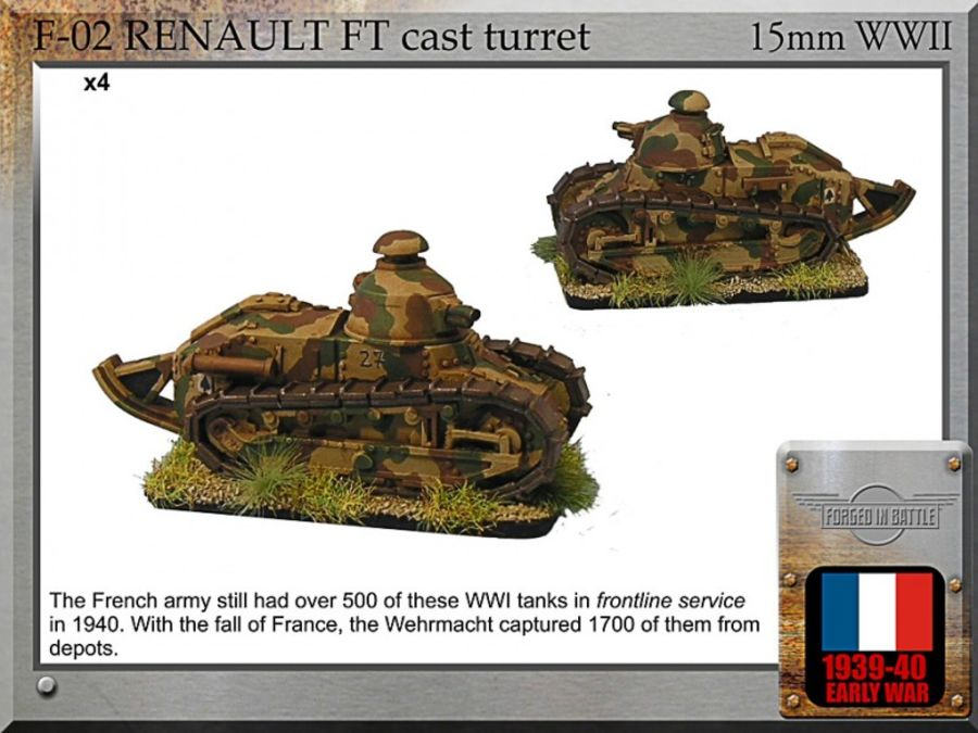 Renault FT cast turret
