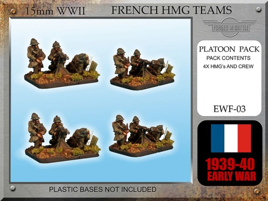 Early War French HMG Teams x 4