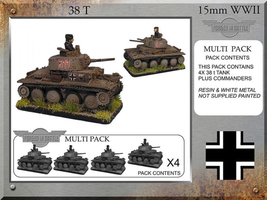 Pz38t x 4 Tanks