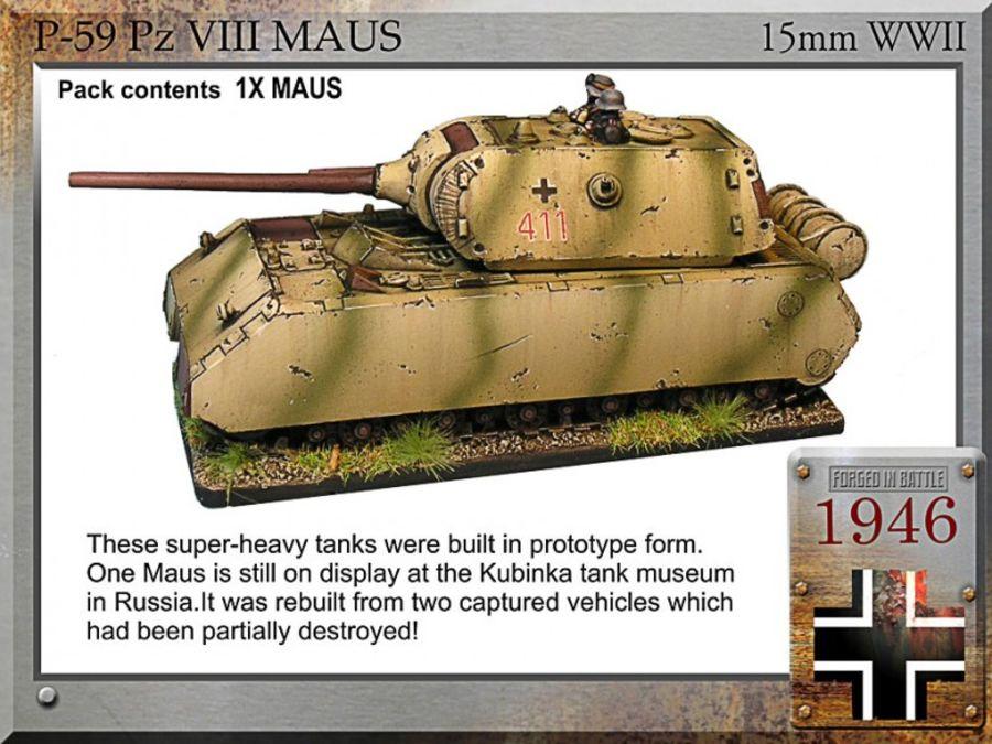 Maus super tank, 12.8cm/7.5cm