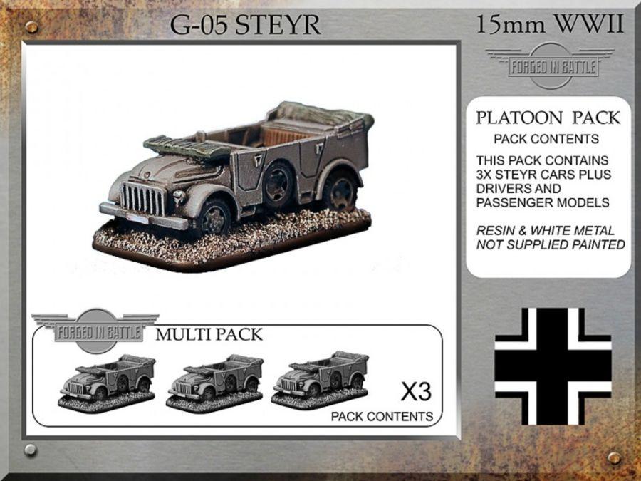 Steyr 1.5 tonne field car x3