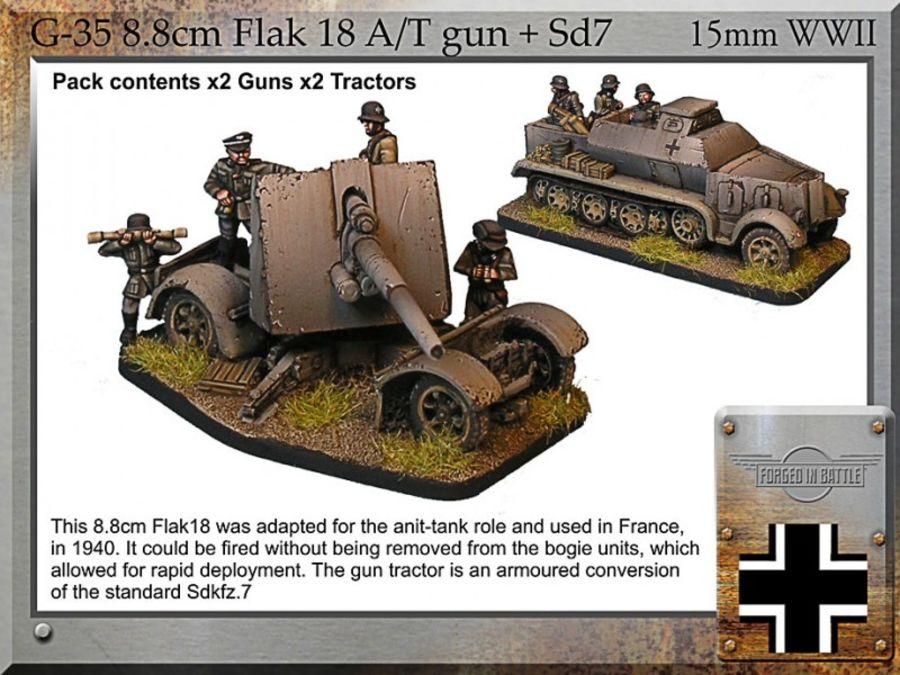 8.8cm Flak 18 A/T gun + armoured Sd.7