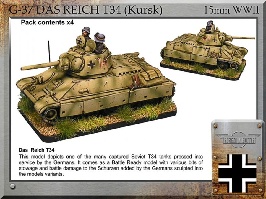 Das Reich T34 (Kursk) x4