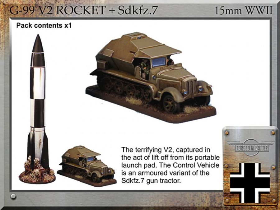 V2 rocket + Sdkfz.7  Control Vehicle