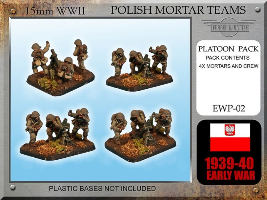 Early War Polish Mortar Teams 81mm x 4
