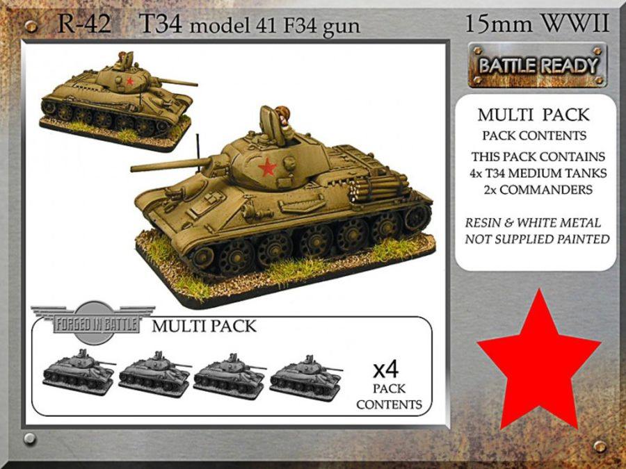 T-34 m41 F34 x 4
