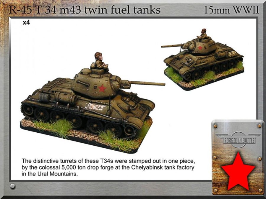 T-34 m43 twin fuel tanks