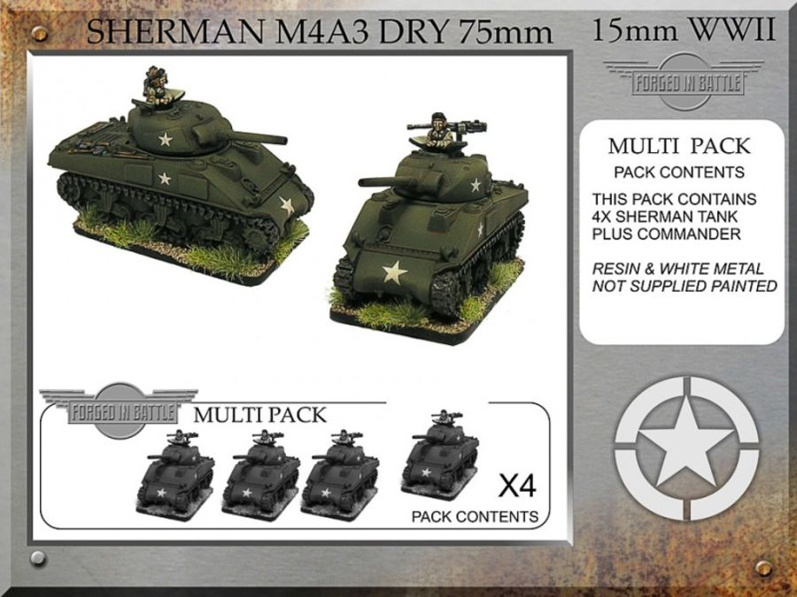 Sherman M4A3 dry 75mm x 4