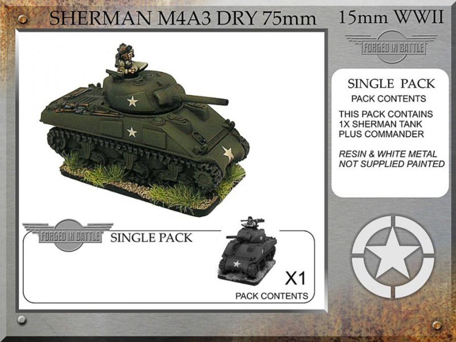 Sherman M4A3 dry 75mm x 1