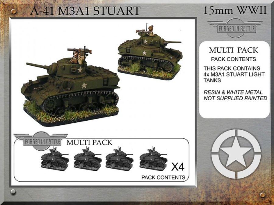 M3A1 Stuart x4