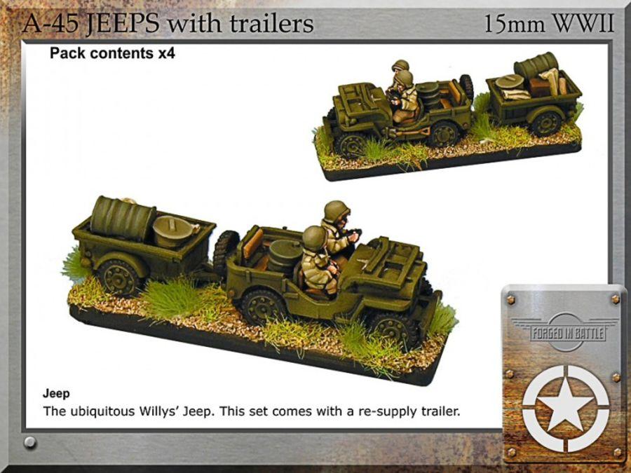 Jeeps + trailers x4