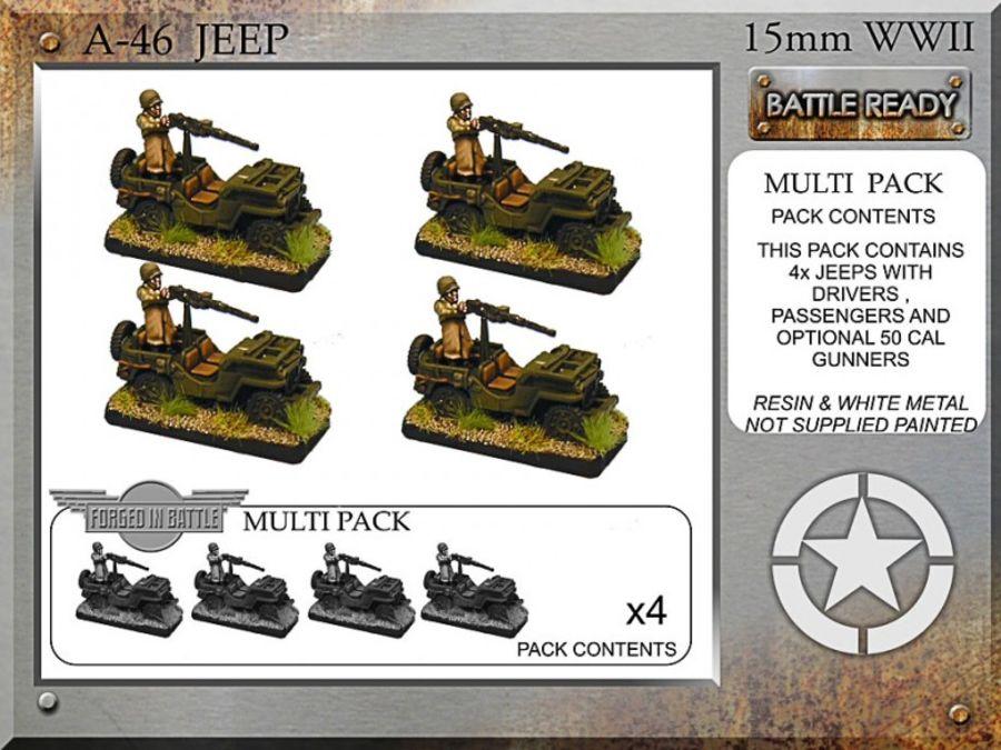 Jeeps & 50cal mg