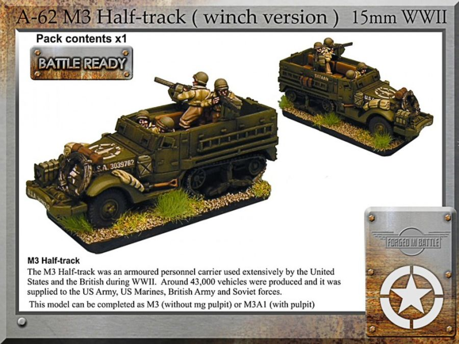 M3 halftrack + winch x1