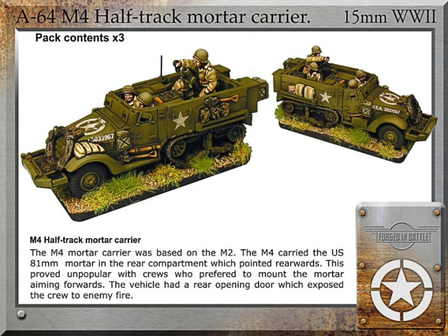 M4 halftrack + mortar x3