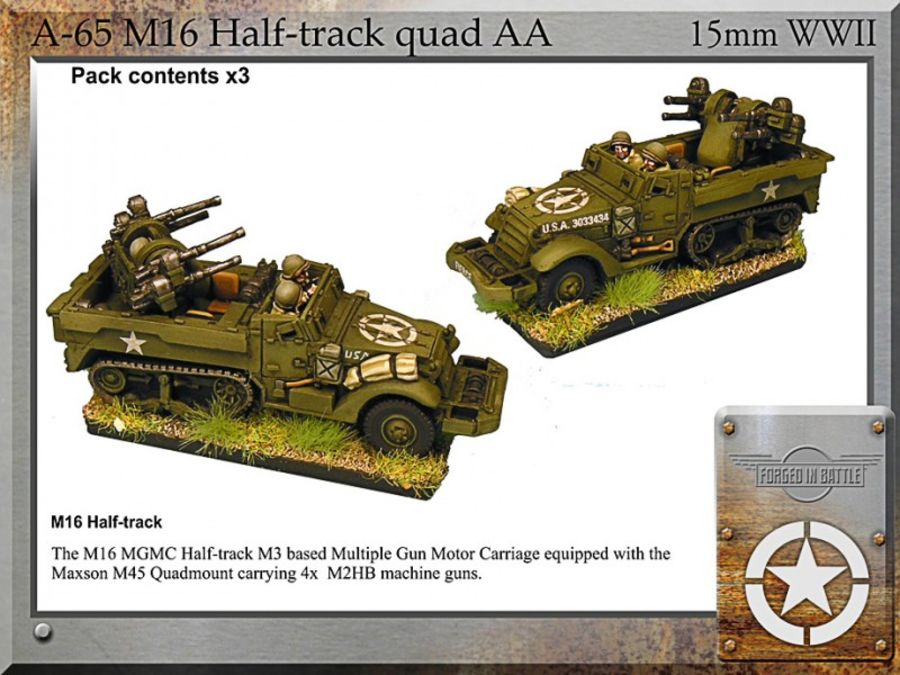 M16 halftrack quad AA x3