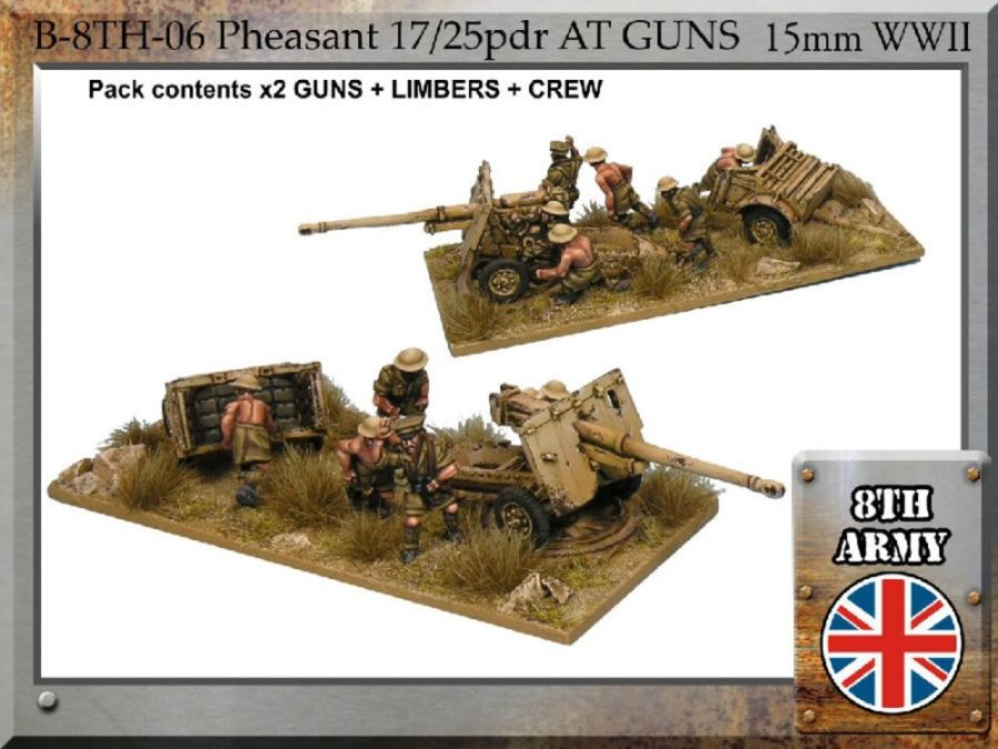 8th Army British 17/25pdr Pheasant anti-tank gun