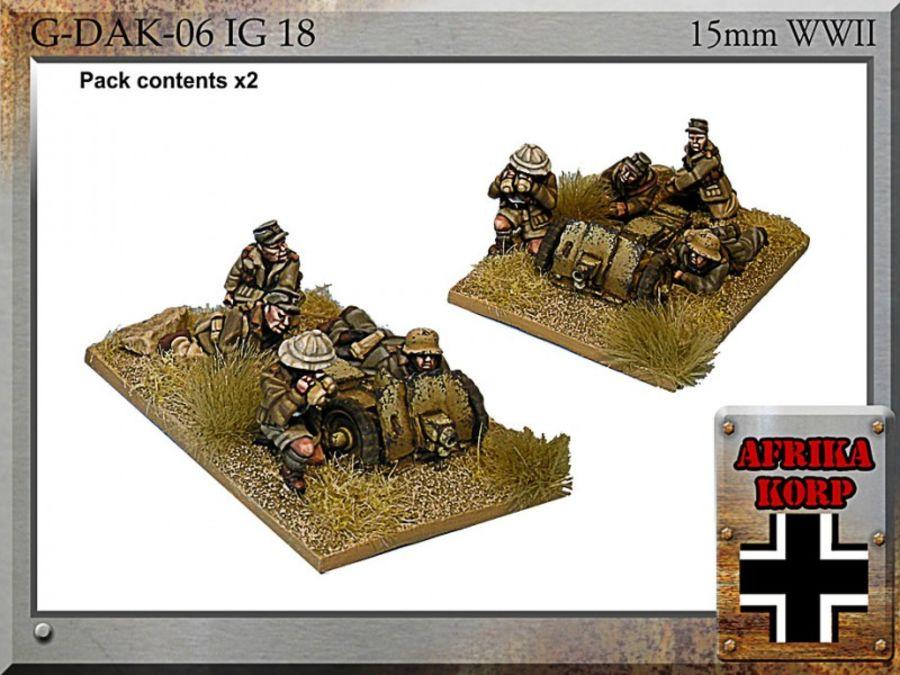 Afrika Korps IG18, 7.5cm Infantry Gun & Crew