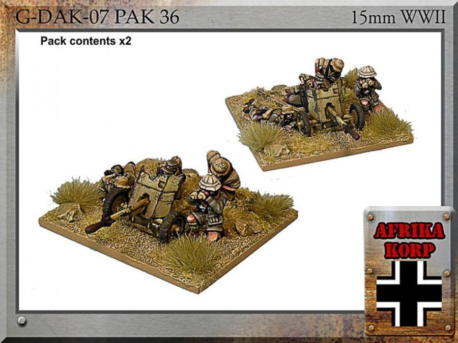 Afrika Korps Pak 36, 3.7 cm Anti-tank Gun & Crew