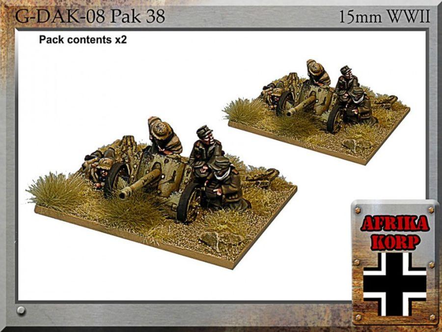 Afrika Korps Pak 38, 5cm Anti-tank Gun & Crew