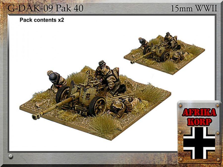 Afrika Korps Pak 40, 7.5 cm Anti-tank Gun & Crew