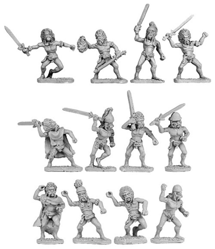 Skyclad Barbarian Warband