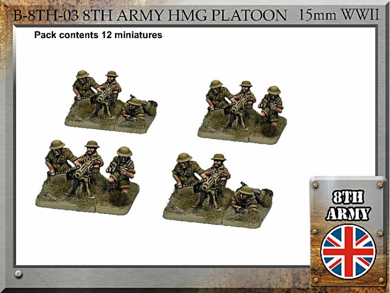 8th Army British Vickers HMG Teams