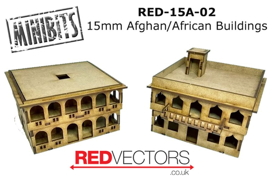 Afghan/African Buildings, Set B