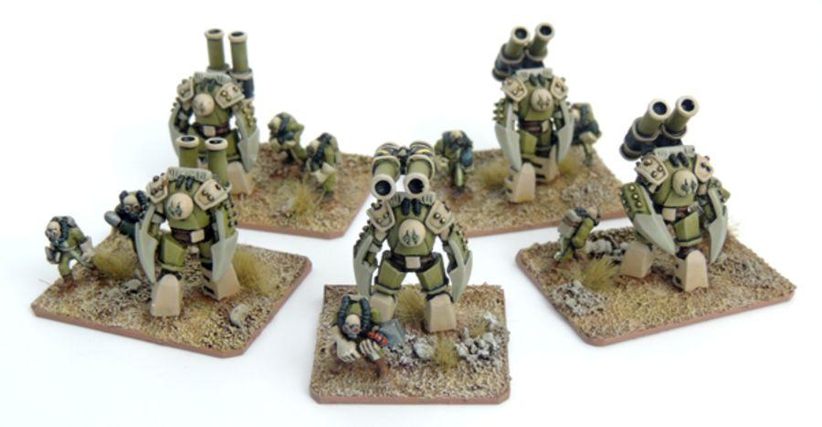 Kaamados Imperator Battlesuit Platoon