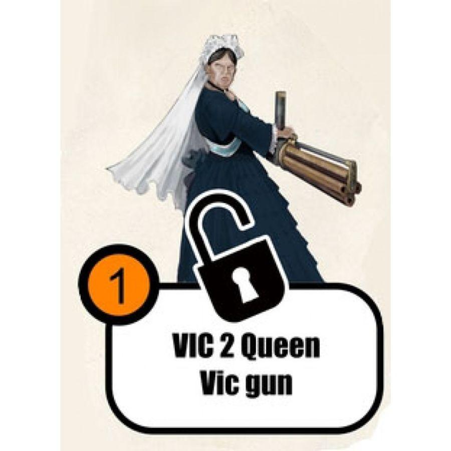 Queen Victoria with Gatling Gun