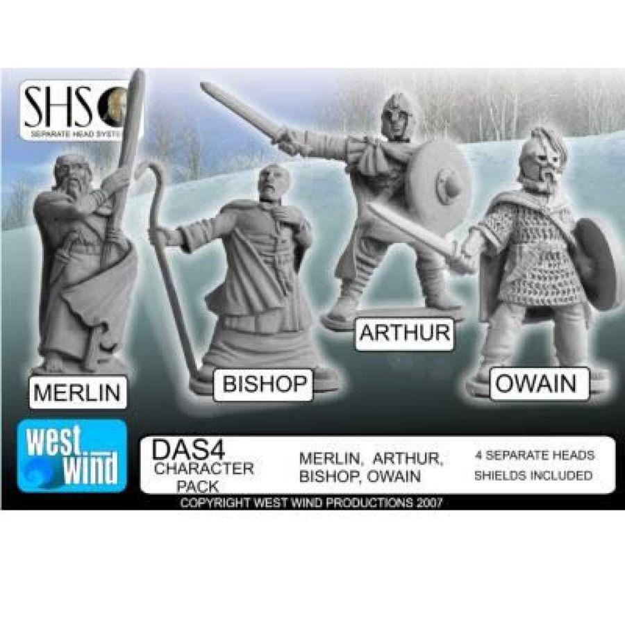 Character Pack. Merlin (new sculpt) Arthur, Bishop, Owai