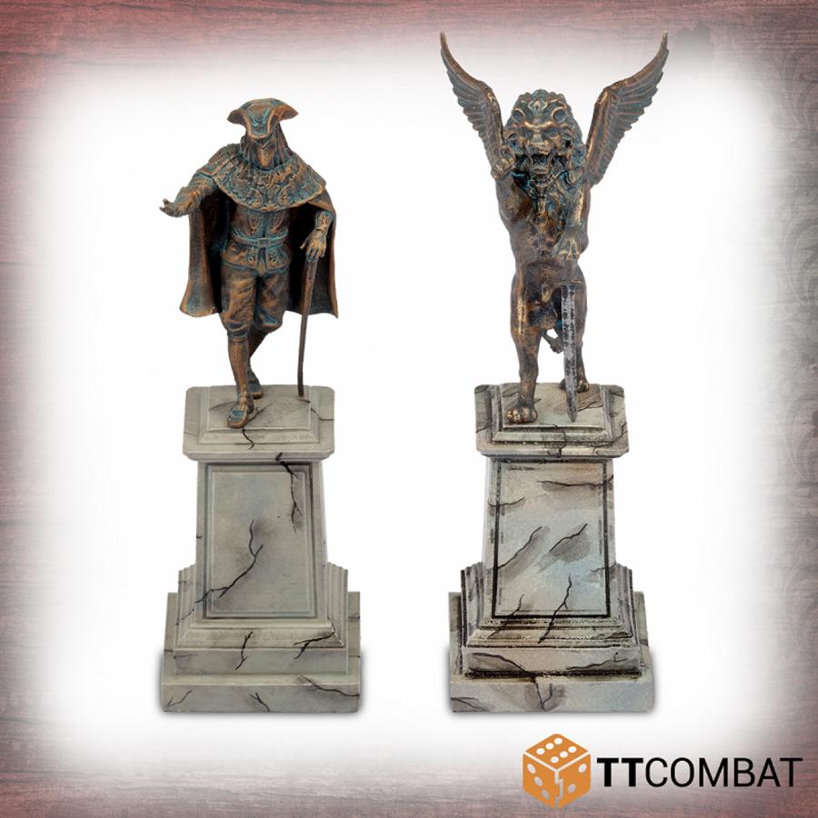 Statues on Plinths