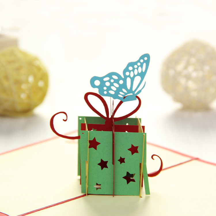 Gift Box & Butterfly Pop Up Card