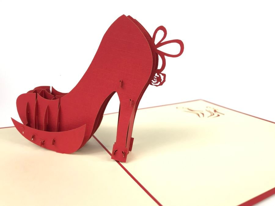 High Heel Pop Up Card