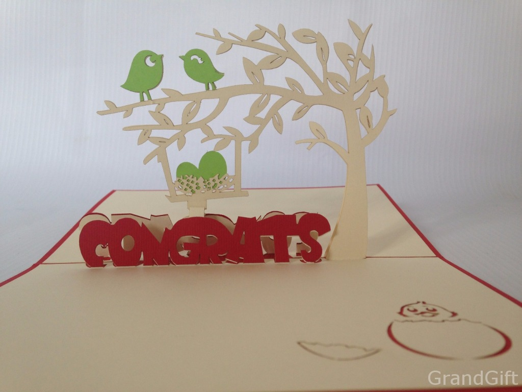 Baby Congratulations Pop Up Card